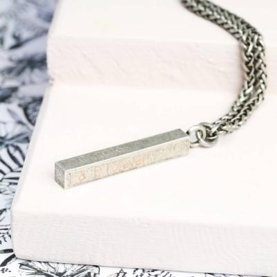 Mens Metal Bar Necklace - The Handmade ™