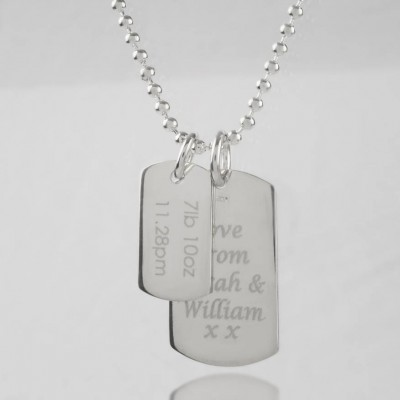 Mens Birth Day Celebration Dog Tags Necklace - The Handmade ™