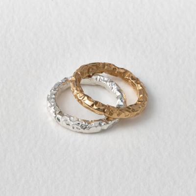Meteorite Silver Ring - The Handmade ™
