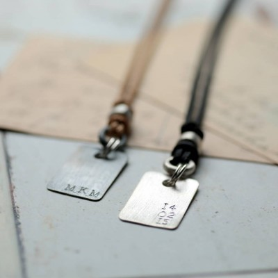 Corded Dog Tag Necklace - The Handmade ™