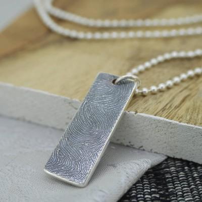 Silver Ink Fingerprint Necklace - The Handmade ™