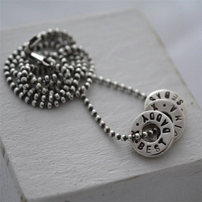 Silver Washer Necklace - The Handmade ™