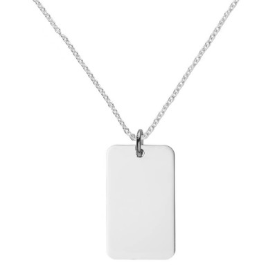 Silver Dog Tag Necklace - The Handmade ™