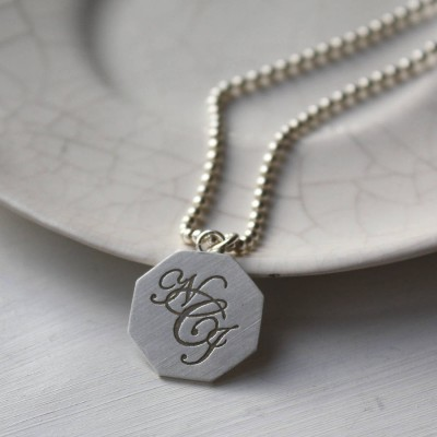 Silver Monogram Necklace - The Handmade ™