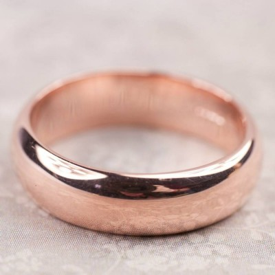Simple Mens Wedding Ring In Gold - The Handmade ™