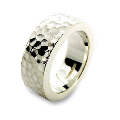 Silver Hammered Ring - The Handmade ™
