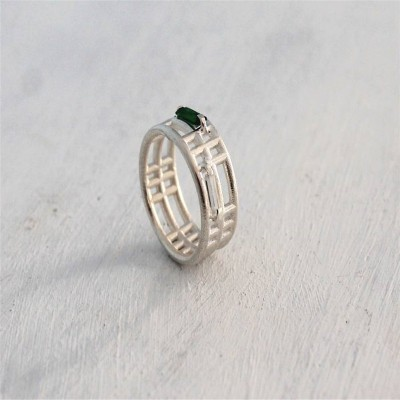 Silver Inclusions Two Ring - The Handmade ™