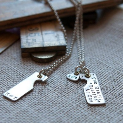 Two Hearts Beat As One Couples Necklaces - The Handmade ™