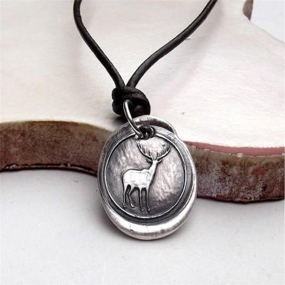 Wax Seal Deer Necklace - The Handmade ™