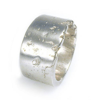 Wide Silver Concrete Ring - The Handmade ™