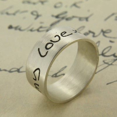 Your Own Handwriting Personalised Ring - The Handmade ™